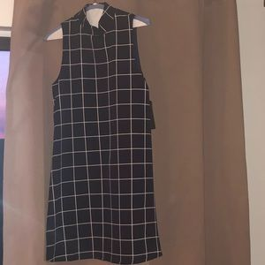 NWT Lulu's blue & white Plaid pattern Dress